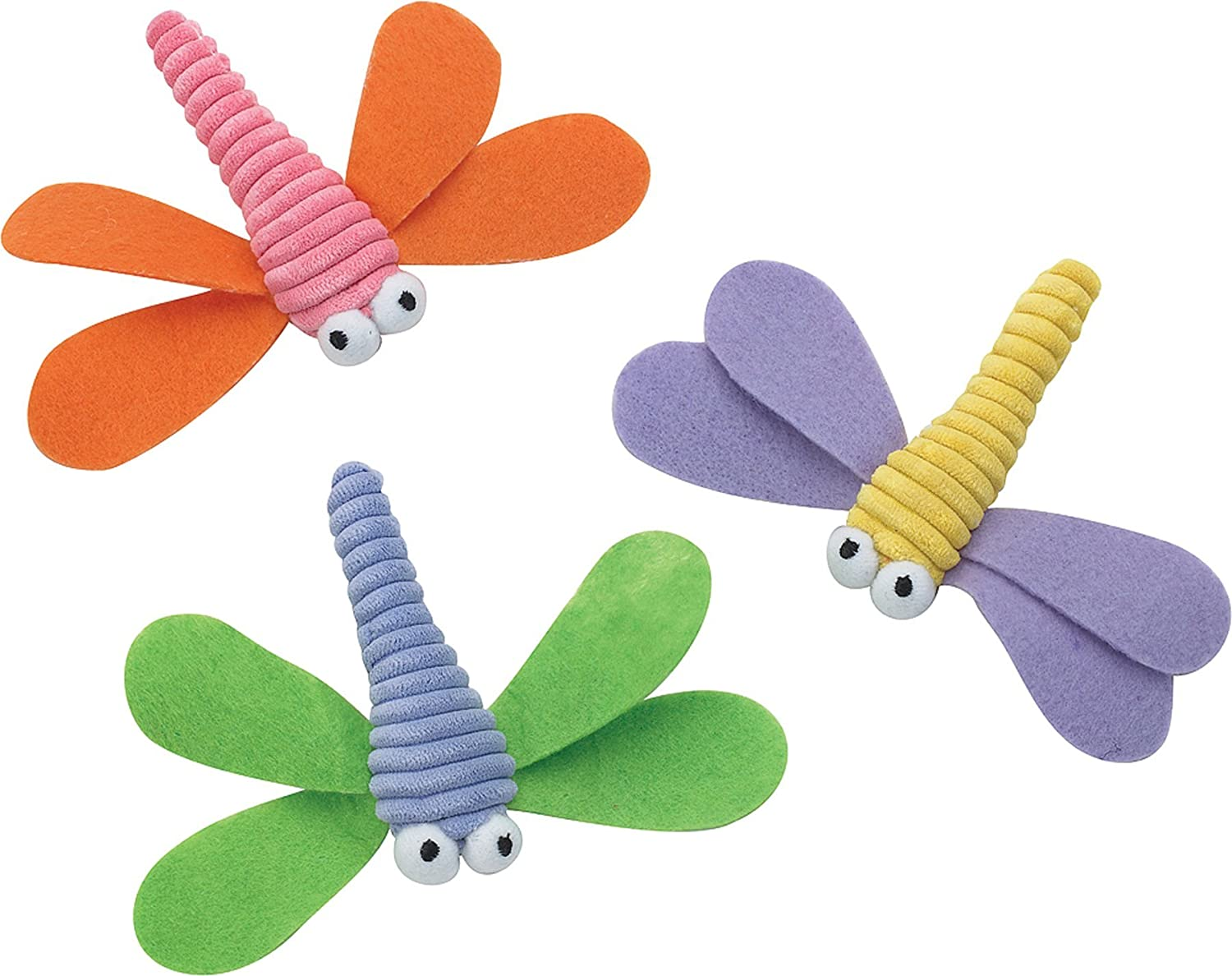 Ethical Pet Products (Spot) CSO2813 Corduroy Dragonfly Catnip Toy for Cats, Assorted high-quality