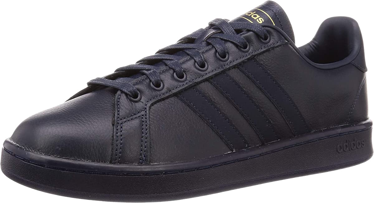 adidas Grand Court Sneakers Herren Blau m. Gold