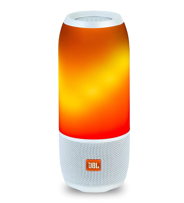 JBL Pulse 3 Wireless Portable Speaker with Vibrant Lightshow (White)