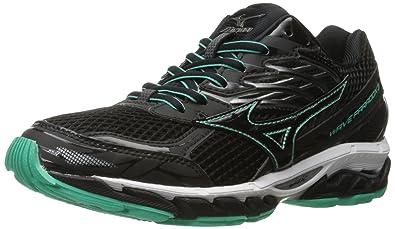the best attitude 2b171 1dad6 Mizuno Women s Wave Paradox 3 Running Shoe, Black-Electric Green, ...