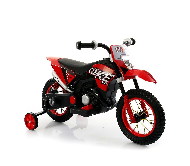 Motocicletta elettrica LT876 per bambini MOTO CROSS BABY ruote gonfiabili. MEDIA WAVE store ® (Arancione) 305a