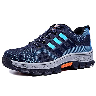 6beb41c4724 CHNHIRA Men Women Steel Toe Cap Saftey Ultra Light Weight Lace Work Shoes  (8.5 UK
