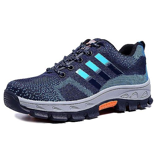 magasin en ligne a85b9 f555f CHNHIRA Chaussures de Securité Homme Embout Acier Protection Antidérapante  Anti-Perforation Chaussures de Travail Unisexes