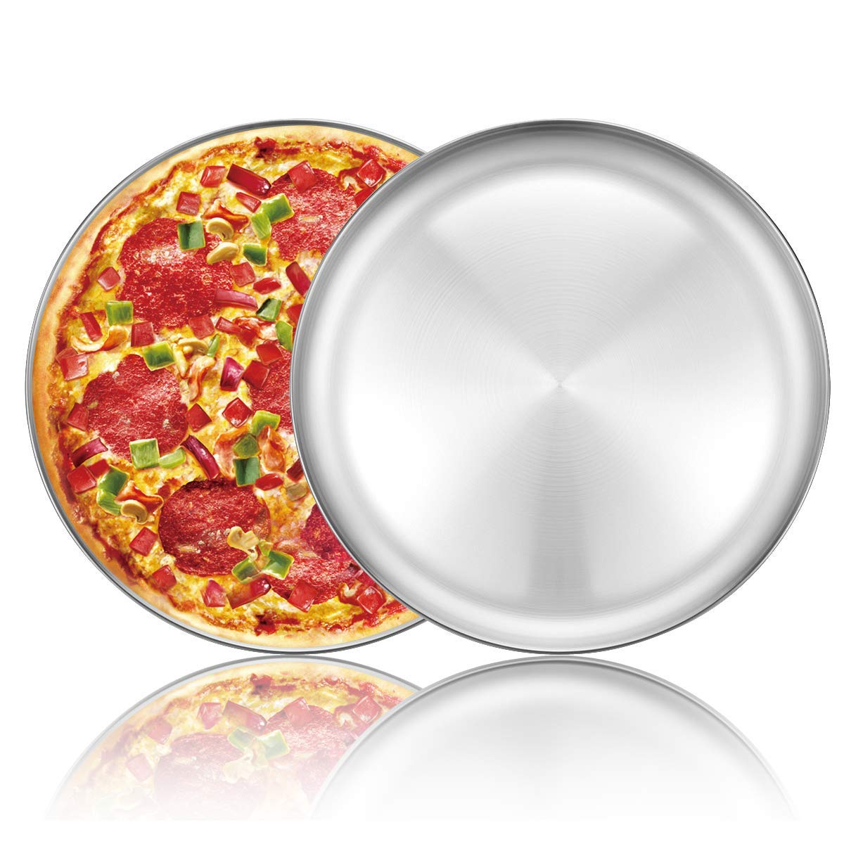 non tossica e sana 30,5 cm Teglia da forno per pizza in acciaio inox