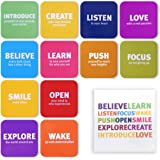 Tsoomi Magnets Inspirational Motivational Words: 12 Refrigerator Magnets in a Designed Package, Fun, Cute & Creative…