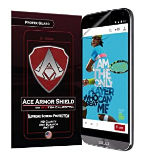 Ace Armor Shield Protek Guard (2 Pack) Screen Protector for The BLU Dash XL with Free Lifetime Replacement Warranty