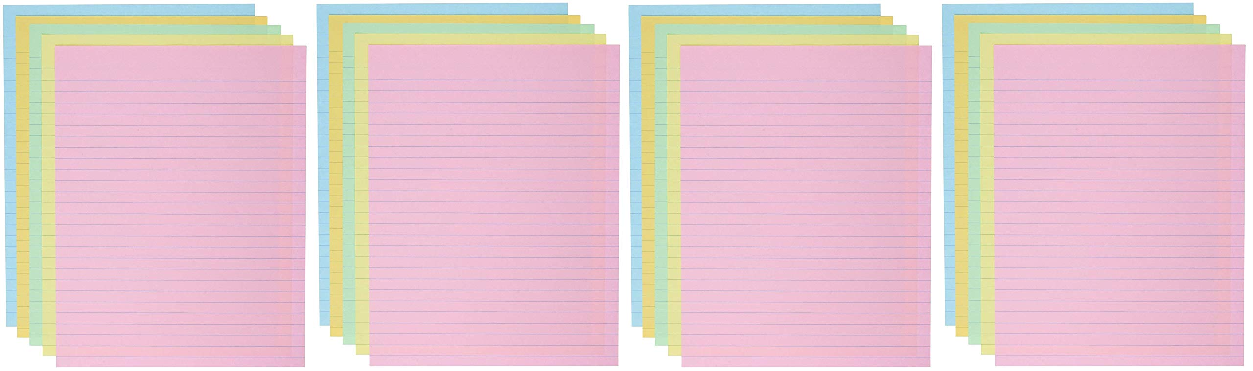 School Smart Ruled Exhibit Paper, 8-1/2 x 11 Inches, Assorted Colors (4 X Pack of 500)