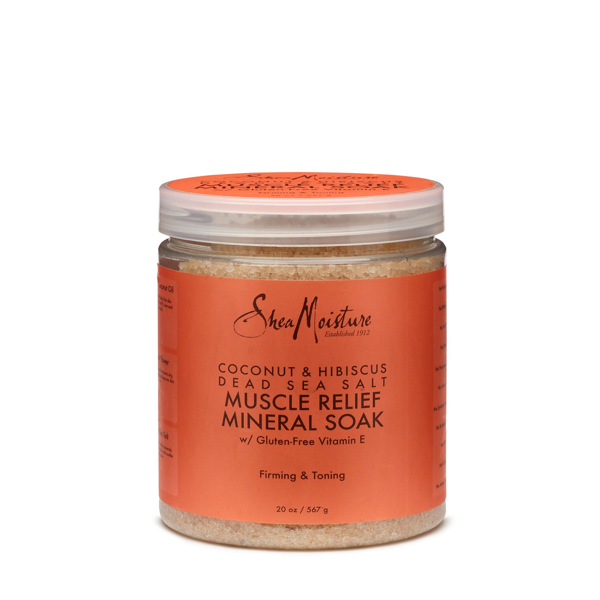 Shea Moisture Coconut & Hibiscus Dead Sea Salt Muscle Relief Mineral Soak for Unisex, 20 Ounce