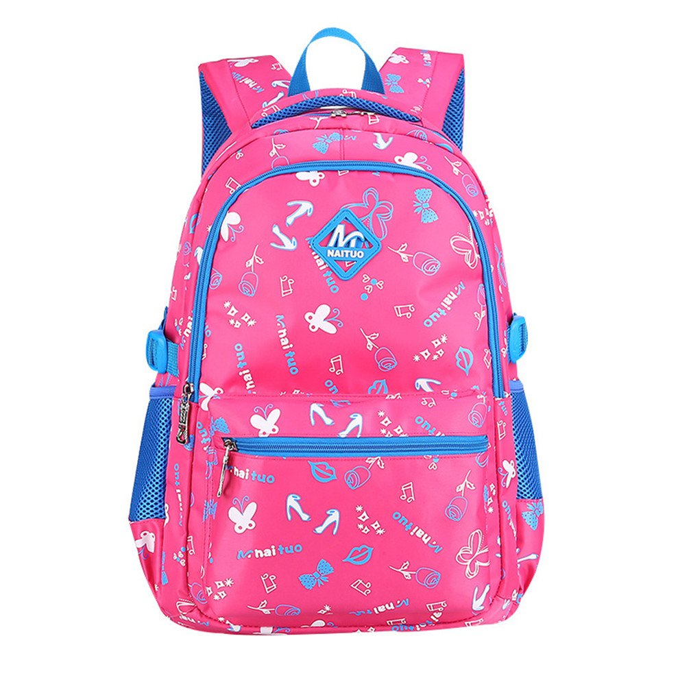 Macbag School Backpack Casual Daypack Travel Outdoor Camouflage Backpack for Boys and Girls (Rosy 2)