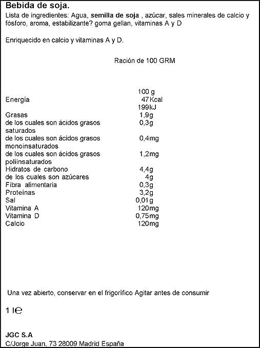 Don Simo - Leche de Soja - sin colesterol - 1 l: Amazon.es: Alimentación y bebidas