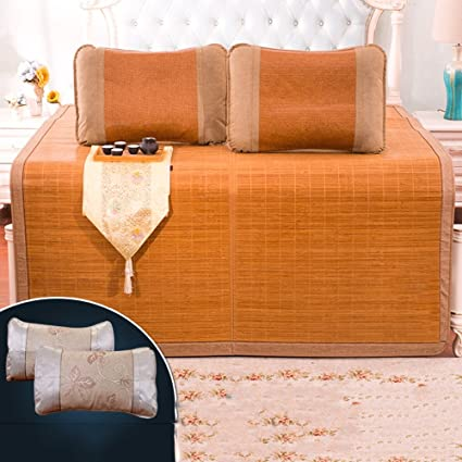 Colchones Esteras de paja Mat Pure Natural Thick Mat Cama doble Summer Rush Alfombrillas Mat 0.8