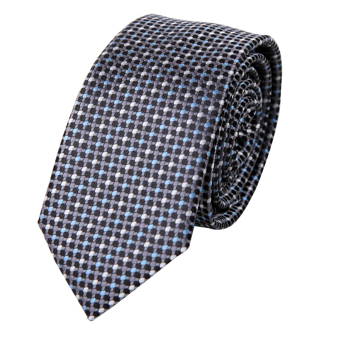PS1036 Collection Accessories Grey Polka Dots Dad Presents Silk Skinny Ties Fine Valentines Day Set By Epoint