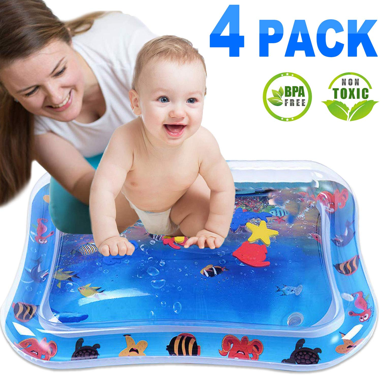 Amazon.com: Paquete de 4 esterillas de agua para bebé ...