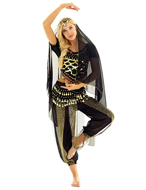 Amazon.com: ACSUSS - Conjunto de danza del vientre para ...