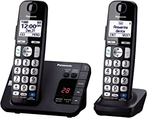 PPanasonic KX-TGE233B Expandable Cordless Digital Phone with Large Keypad