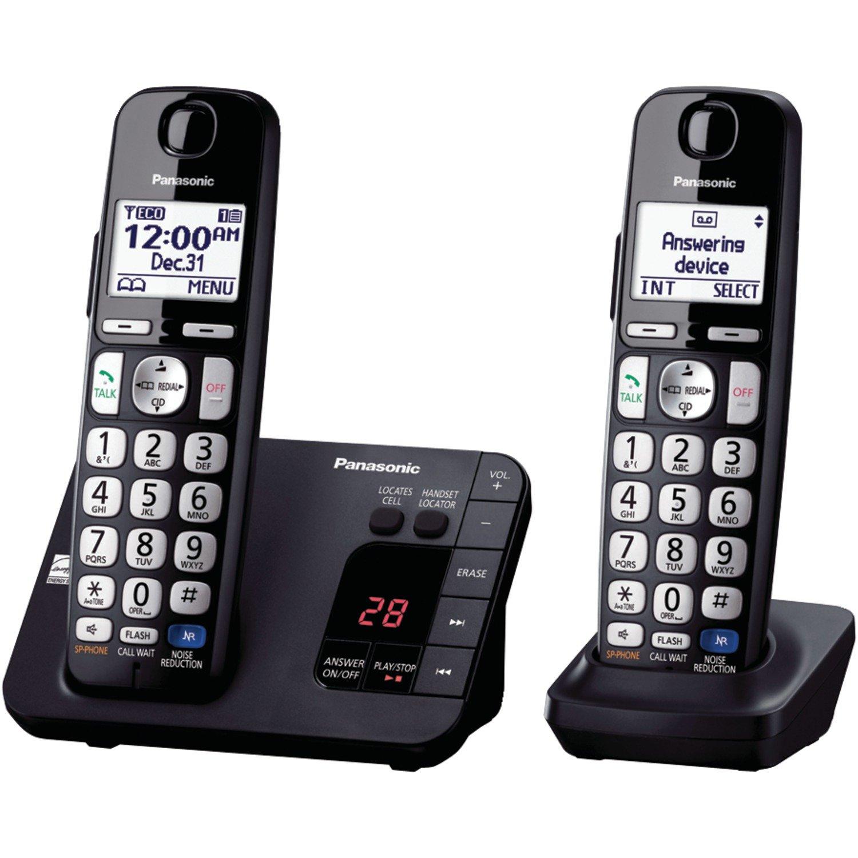 48a64328ef79 Amazon.com : Panasonic KX-TGE232B Cordless Phone, 2 Handsets : Electronics