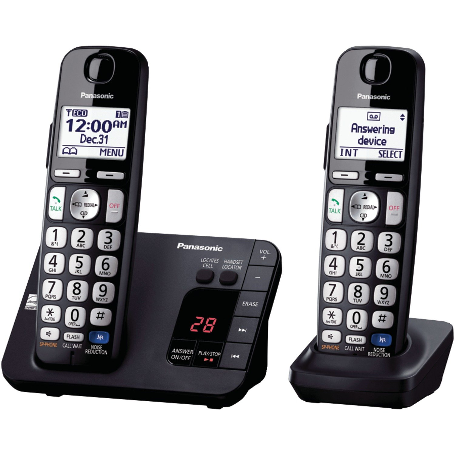 Panasonic KX-TGE232B Cordless Phone, 2 Handsets by Panasonic