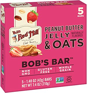 product image for Bob's Red Mill Peanut Butter Jelly & Oats Bob's Bar, (5 Count of 1.48 oz Bars) 7.4 oz