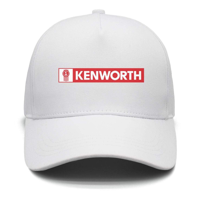 GRFF Unisex Flat Cap High Profile Flexfit Logo-Kenworth Mesh Snapback Hats
