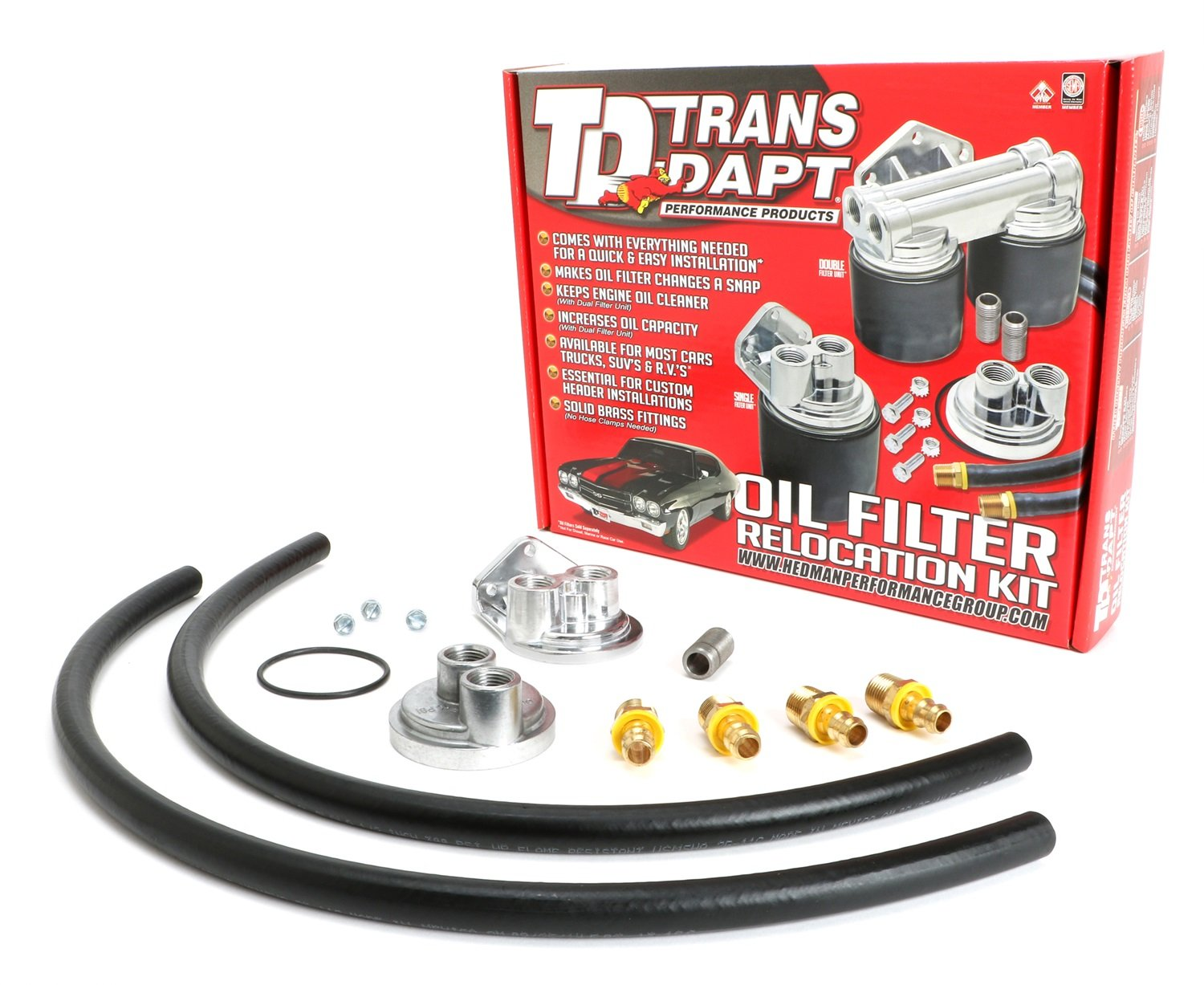 Trans-Dapt 1158 Oil Filter Relocation Kit Trans-Dapt Performance