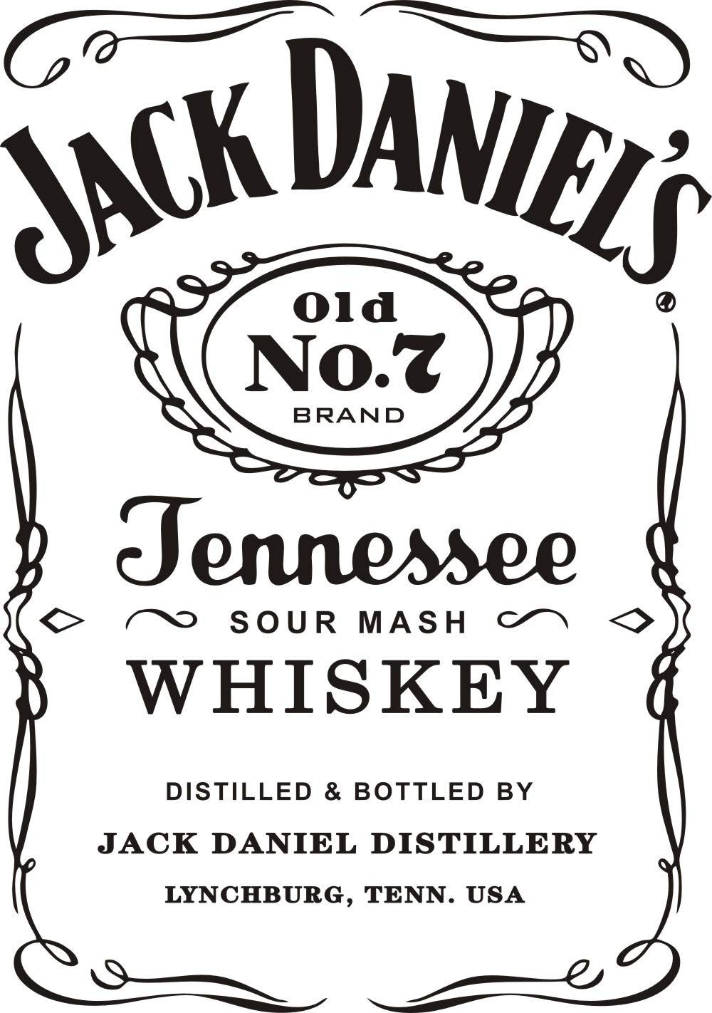 Wall Decal Jack Daniels JD Wall Decor Sticker Removable Jeness Whiskey  Carving Quotes Wall Mural Living Room Kitchen Interior Deoration Stickers  Y013 ...