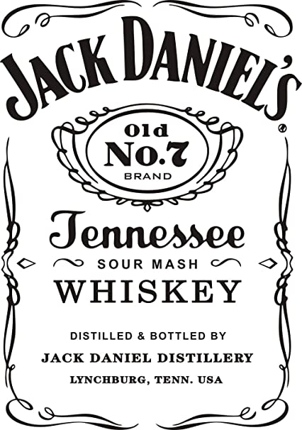 Amazon.com: Wall Decal Jack Daniels JD Wall Decor Sticker Removable ...