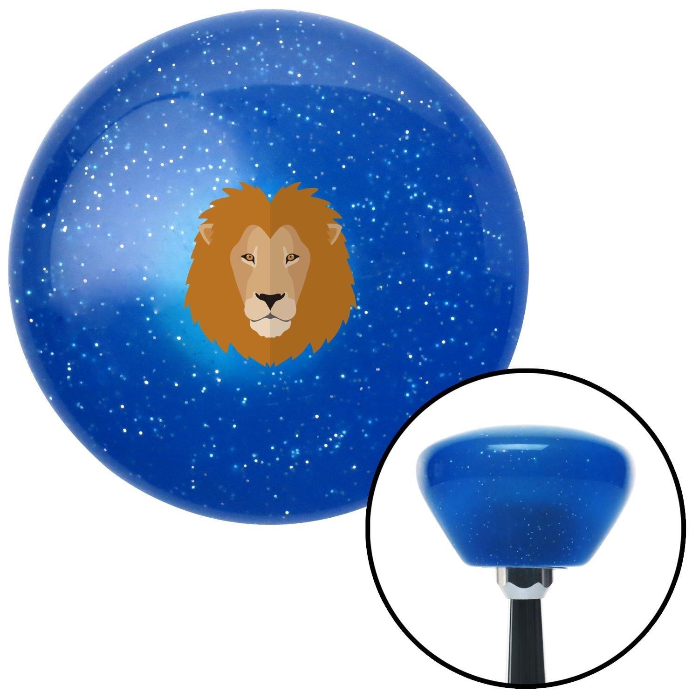 Lion Head Blue Retro Metal Flake American Shifter 289622 Shift Knob