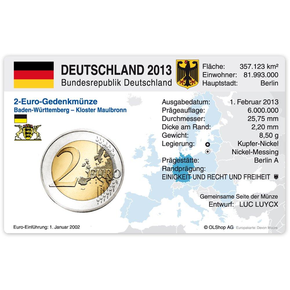 Set 60 Münzkarten Ohne Münze Für 2 Euro Gedenkmünzen Deutschland