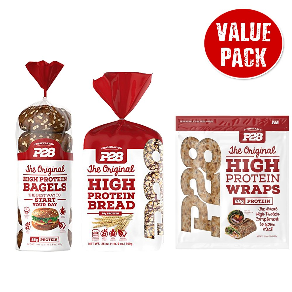 Combo Value Pack: P28 High Protein Sandwich Bread, Bagels, and Wraps, Includes 7 Day Clean Eating/High Protein Meal Plan E-Book by P28 (Image #4)