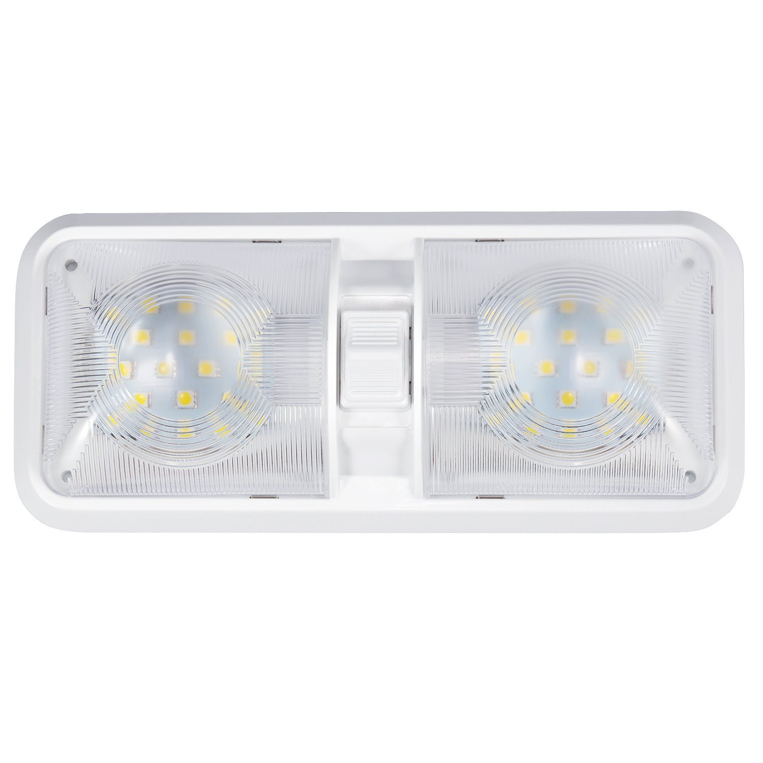 Kohree 12v Led Rv Ceiling Dome Light Rv Interior Lighting For Trailer Camper With Switch White