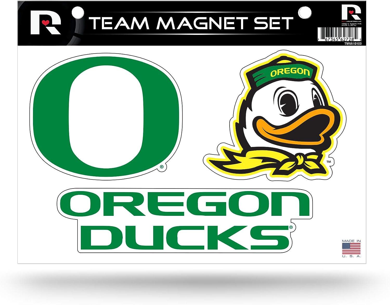 Rico Industries NCAA Oregon Ducks Die Cut Team Magnet Set Sheet Green 8.5 x 11-inches