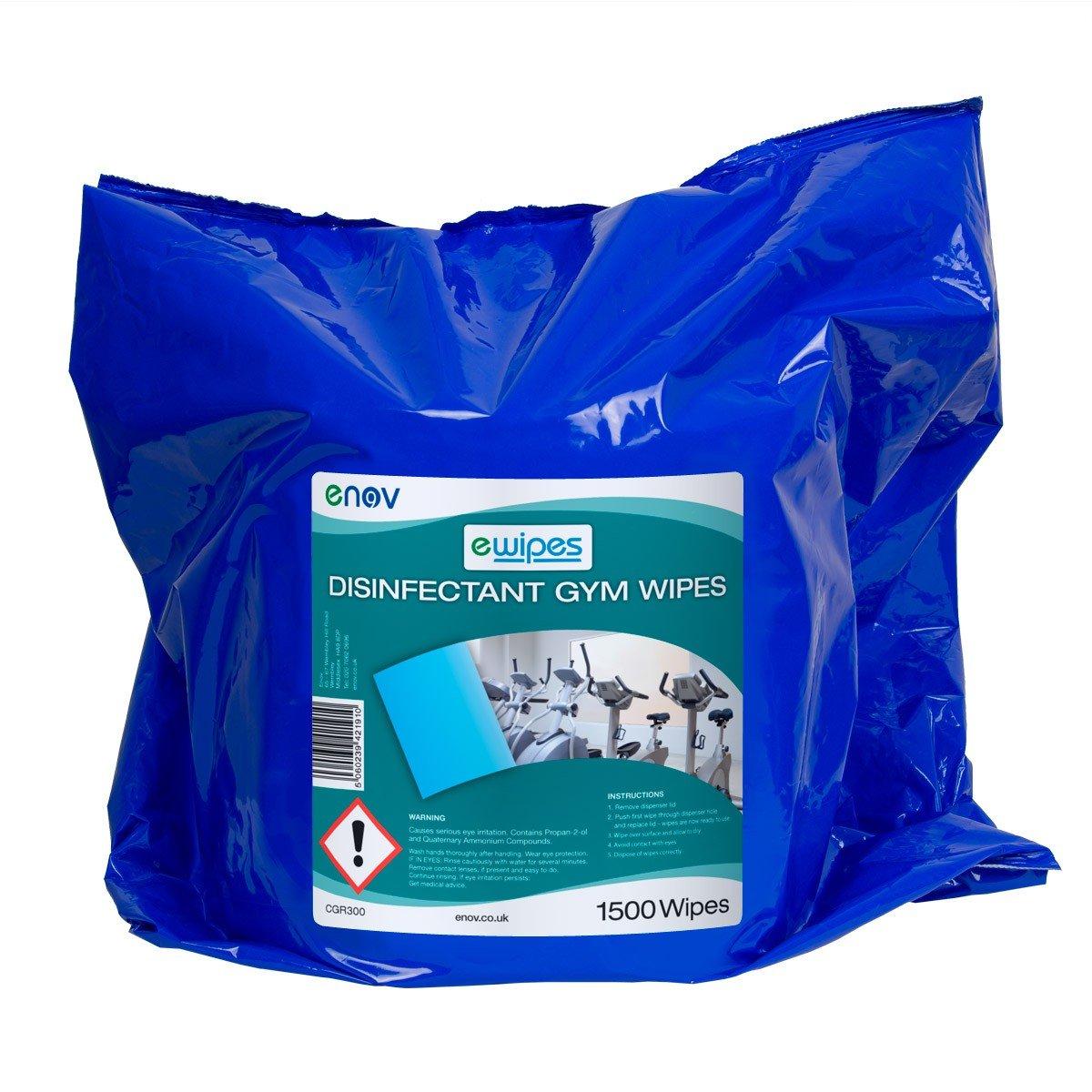 ewipes cgr300 enov gimnasio equipo desinfectante limpiador (Pack ...
