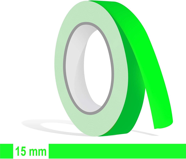 Siviwonder Zierstreifen Neon Grün In 15 Mm Breite Und 10 M Länge Für Auto Boot Jetski Modellbau Klebeband Aufkleber Dekorstreifen Neongrün Fluor Auto