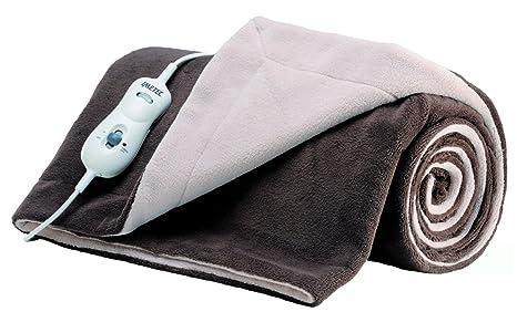 IMETEC Relaxy IntelliSense TH-04 - Manta eléctrica de sofá, 150 W, tejido polar, 160 x 120 cm, color marro y beige