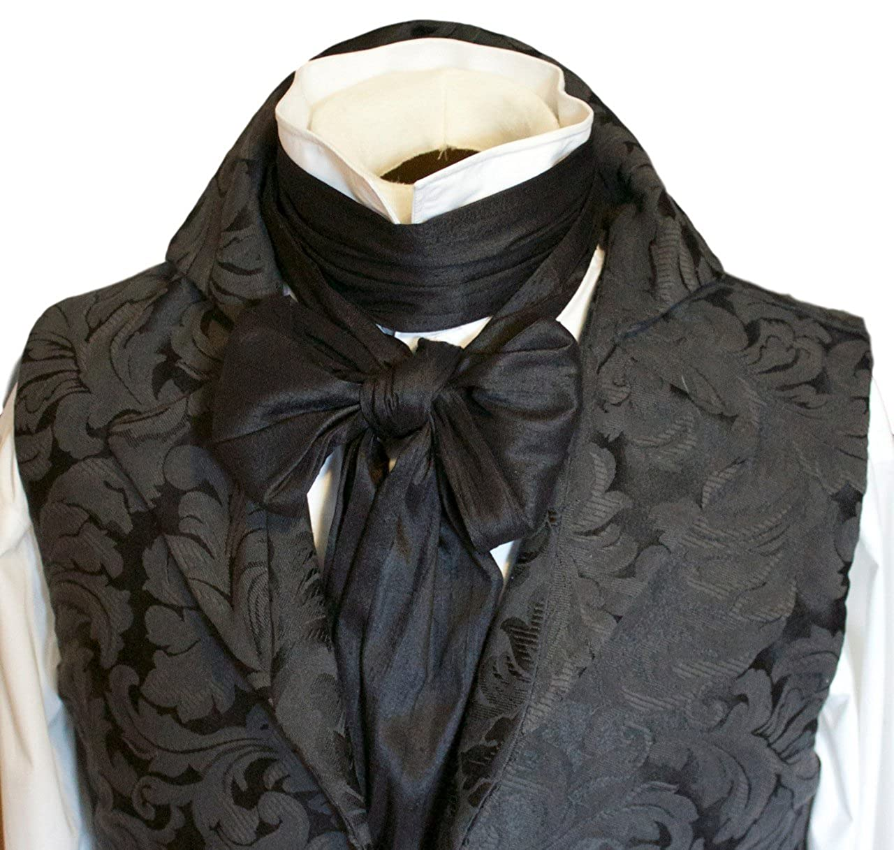Men's Victorian Costume and Clothing Guide Elegantascot Mens Handmade Extra-Long Regency Dupioni Silk Ascot Tie $40.00 AT vintagedancer.com
