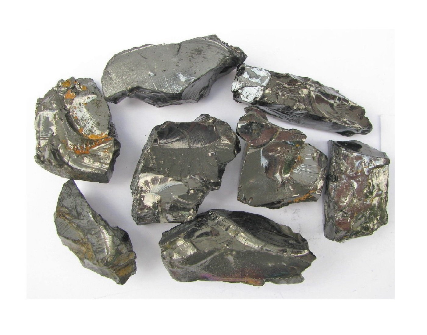 Karelian Heritage Elite Silver Shungite 0 2 lb (100 Grams) Set for Water  Purification (40-60 mm Stones) ES99