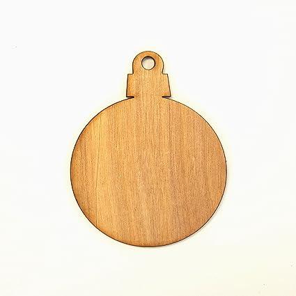 amazon com 25 wood christmas ornaments blanks round soto 1 8 thick