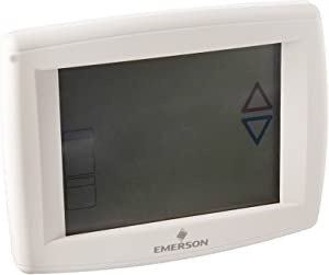 """Emerson 1F95-1280 12"""" Touchscreen Commercial Programmable Thermostat, Blue"""