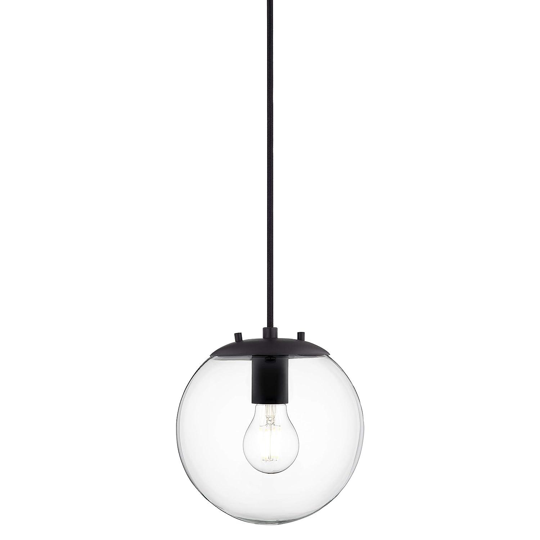 Sferra Globe Pendant Light Black Pendant Lighting for Kitchen Island with LED Bulb LL-P201-BLK