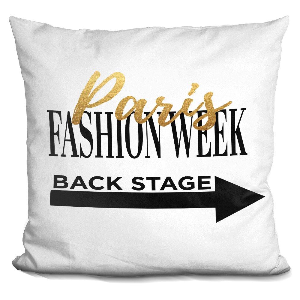 LiLiPi Fashion Week Paris Decorative Accent Throw Pillow