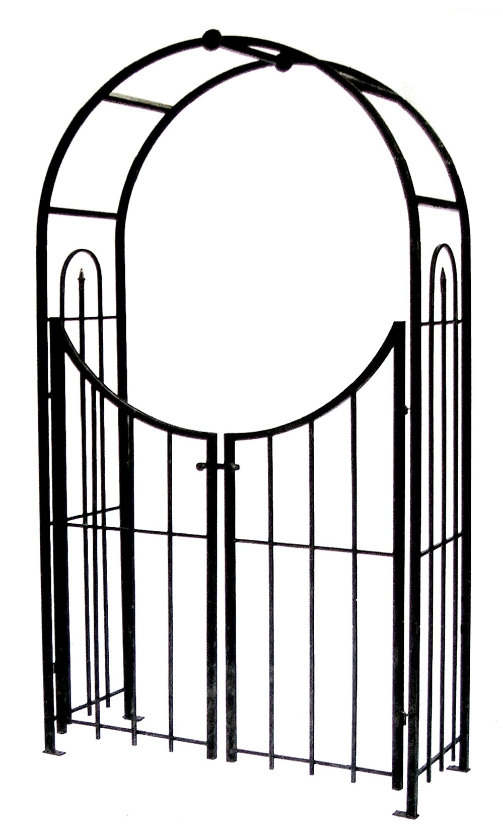 Panacea Products Arched Top Garden Arbor with Gate, Brushed Bronze by Panacea Products