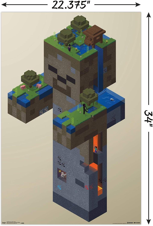 Trends International Minecraft-Zombie Cartaz de parede com clipe