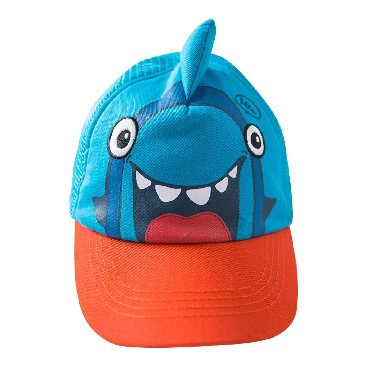 E.mirreh Baby Boys Shark Cartoon Baseball Cap Summer Hat L