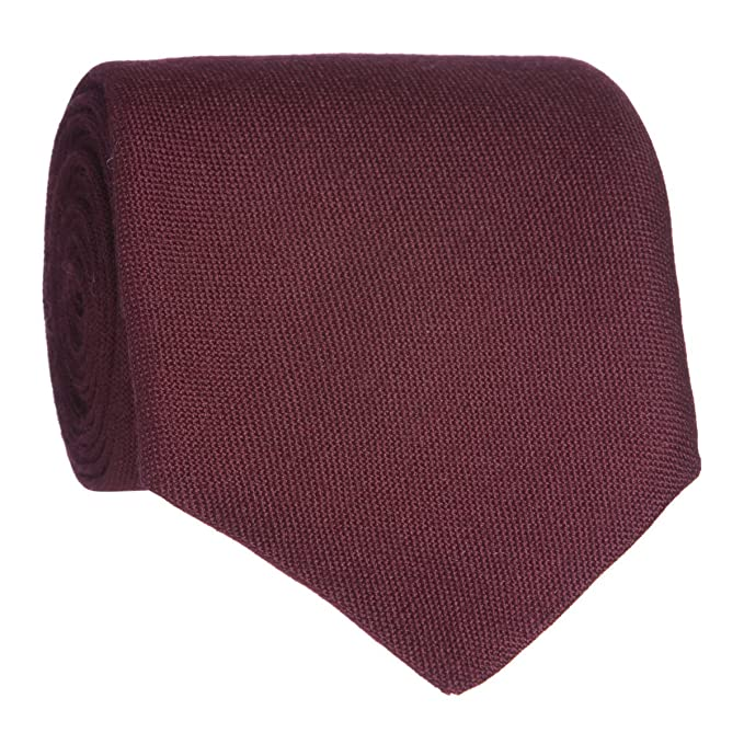 Lochcarron lana corbata granate Rojo rojo (Maroon) talla única ...