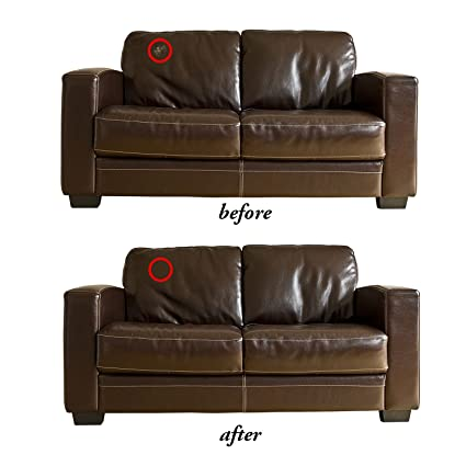 AUCHEN 6 Pack Dark Brown Repair Sofa Leather Patch Self Adhesive Leather  Repair Patch For