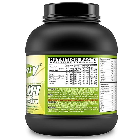 SLIMMY - Dieta baja en carbohidratos - 100 % de aislado de proteína de soja, 1000g chocolate: Amazon.es: Salud y cuidado personal