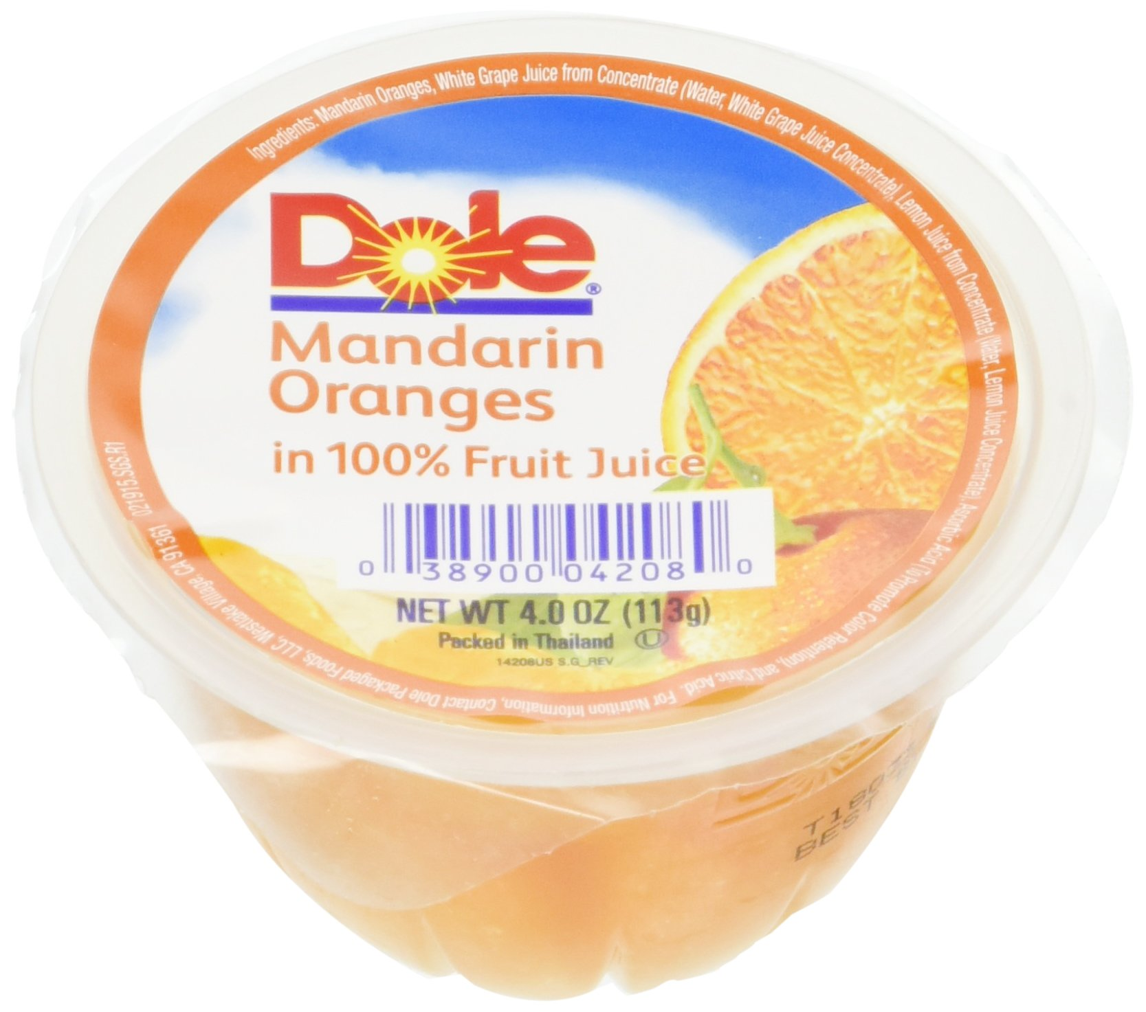 Dole Mandarin Oranges in Light Syrup, 4-Ounce Containers (Pack of 36)