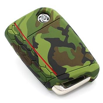Llave Móvil VB para 3 botones llave de coche silicona Cover – Finest de Folia Carcasa Funda para llaves .Camouflage