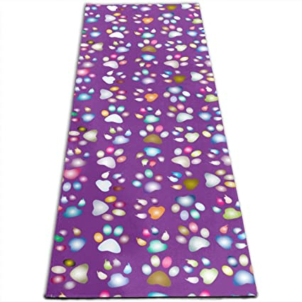 Amazon.com: Alfombrilla de yoga MoralesLmat colorida con ...