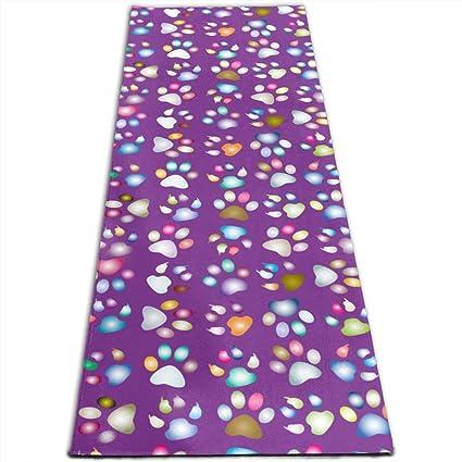Amazon.com: Alfombrilla de yoga MoralesLmat colorida con ...
